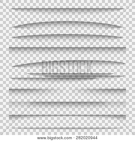 Shadow Dividers. Line Paper Design Panel Shadow Effects Divider Webpage Edge Template Tabs Group, We