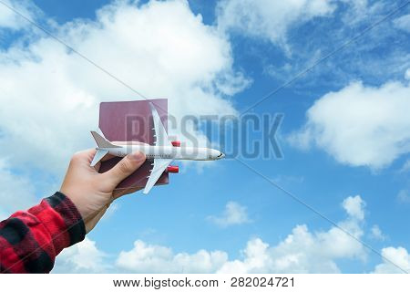 Tourist Holding Airplane  Flight Travel Traveller Fly Travelling Citizenship Air On The Around World