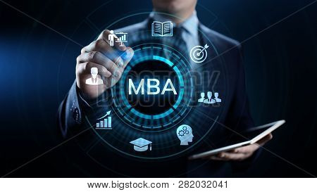 MBA Master of business administration Education concept. poster