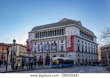 Teatro Real Is An Opera House Located In Front Of The Palacio Real, Madrid
