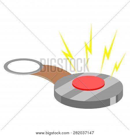 Joke Hand Buzzer. April Fool. Vector Illustration Design