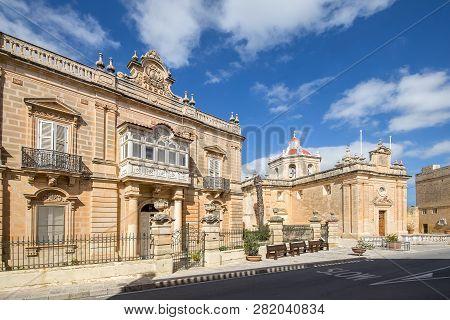 St Paul's Church In The Small Rural Village Of Hal Safi, Malta