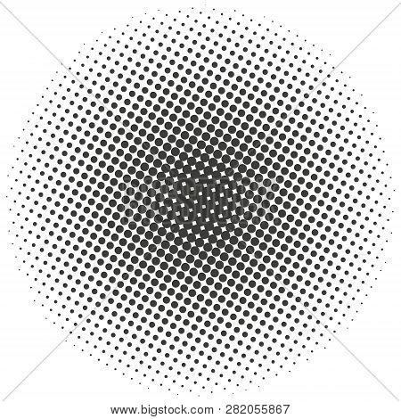 Halftone Circles, Halftone Dots Pattern. Monochrome Half-tone. Eps 10