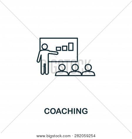 Coaching Icon. Thin Outline Creativecoaching Design From Soft Skills Collection. Web Design, Apps, S