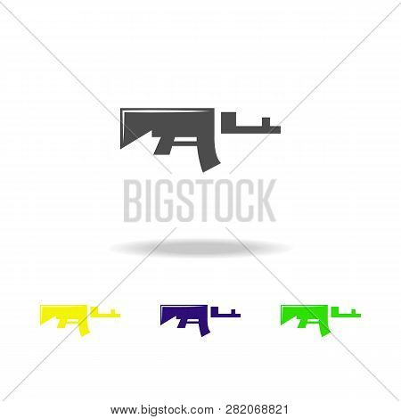 Rifle, Weapon 04 Colored Icons. Element Of Military Illustration. Signs And Symbols Can Be Used For