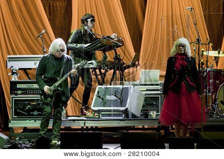 CLARK, NJ - SEPTEMBER 17: Members of band Blondie perform at the Union County Music Fest on September 17, 2011 in Clark, NJ. The band beings tour to support their newest release titled Panic of Girls.