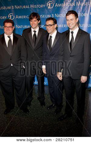 NEW YORK - NOV 10: Bobby Moynihan, Bill Hader, Fred Armisen, and Taran Killam attend the American Museum of Natural History's  2011 Gala on November 10, 2011 in New York City, NY.