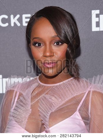 LOS ANGELES - JAN 26:  Aja Naomi King arrives to Entertainment Weekly honors Nominees for the Screen Actors Guild Awards  on January 26, 2019 in Hollywood, CA