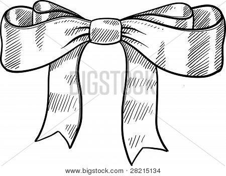 Gift ribbon sketch