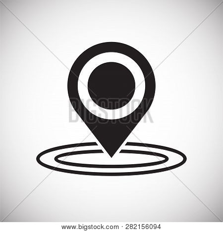 Checkpoint Location Icon On White Background For Graphic And Web Design, Modern Simple Vector Sign.