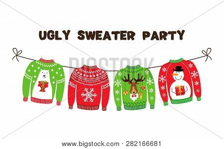 Cute Banner For Ugly Sweater Christmas Party