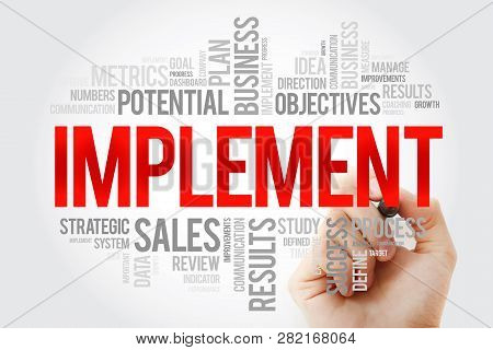 Implement Word Cloud With Marker, Business Concept Background