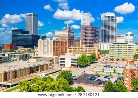 Tulsa, Oklahoma, USA downtown city skyline  in the afternoon.