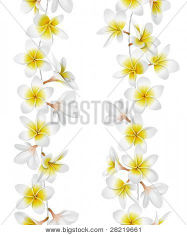 Tropical necklace seamless border. Vector Illustration