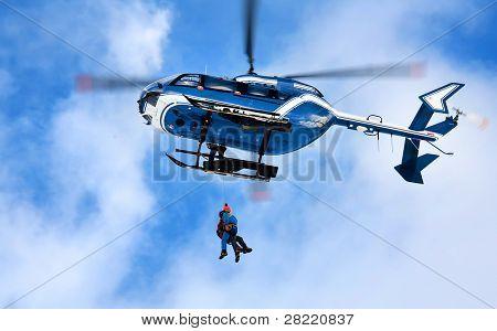 Mountain rescue action
