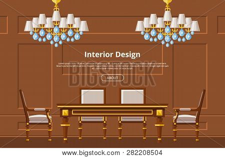 Furniture Vector Furnishings Design Of Living-room Backdrop Furnished Interior In Apartment Table Ch