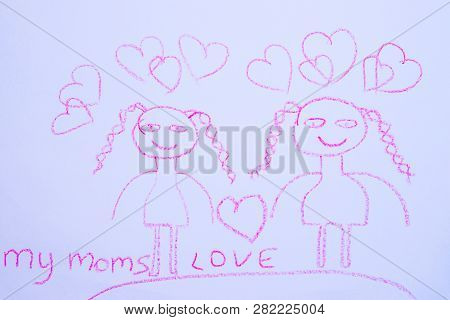 Children`s Drawing Two Image & Photo (Free Trial) | Bigstock