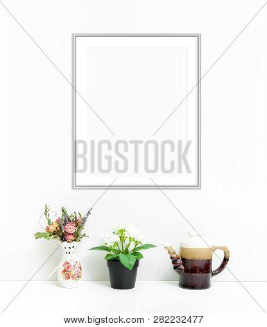 8x10 16x20 Vertical Frame Mockup On Light Background