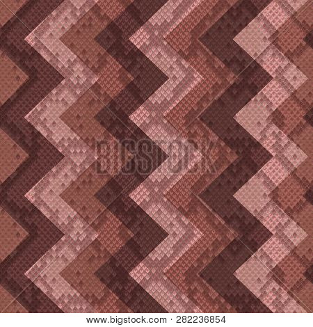 Snakeskin Reptile Zigzag Seamless Pattern. Vector Background