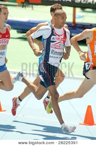 BARCELONA, SPAIN - JULY 28: Michael Rimmer of Great Britain during the Men 800m final during the 20th European Athletics Championships at the Olympic Stadium on July 28, 2010 in Barcelona, Spain