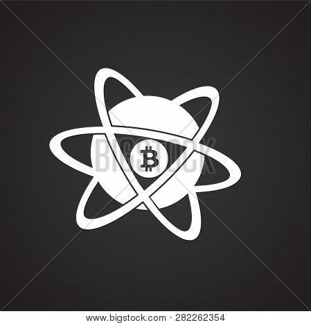Bit Coin Core On Black Background Icon