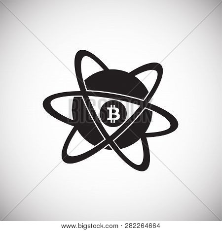 Bit Coin Core On White Background Icon