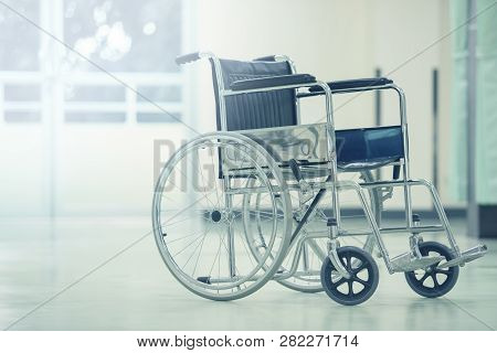 Empty Wheelchair For Patients,wheelchair In The Hospital,wheelchairs Waiting For Patient Services