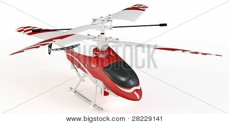 3D Radio Controlled Helicopter Model