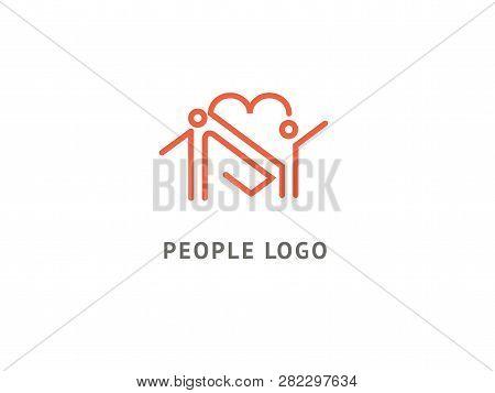 Abstract Community Logo Icon Vector Design. Care, Medicine, Health, Social Work Vector Logo. Health