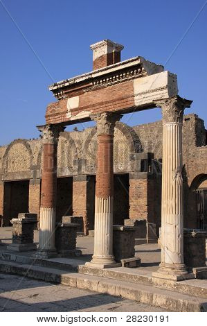 Roman ruins of Pompeii Naples