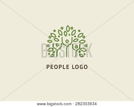 Abstract Nature Logo Icon Vector Design. Healthy Eco Food, Ecology, Spa, Business, Diet , Yoga, Envi