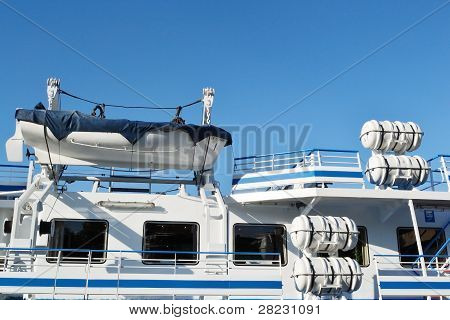 Fragment of river cruise ship