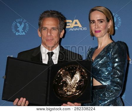 LOS ANGELES - FEB 2:  Ben Stiller, Sarah Paulson at the 2019 Directors Guild of America Awards at the Dolby Ballroom on February 2, 2019 in Los Angeles, CA
