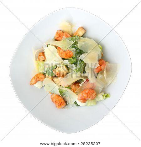 Porção de salada Caesar