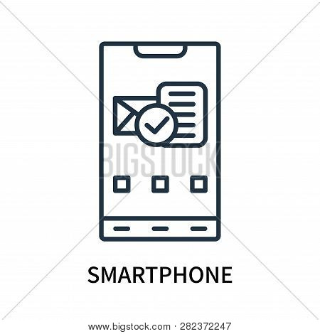 Smartphone Icon Isolated On White Background. Smartphone Icon Simple Sign. Smartphone Icon Trendy An