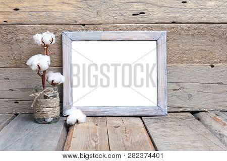 8x10 16x20 Horizontal Wood Frame Mockup, Rustic Mockup Frame, Wood Background, Picture Frame,