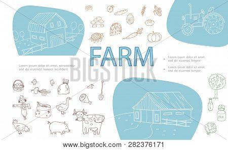 Hand Drawn Farm Vector & Photo (Free Trial) | Bigstock