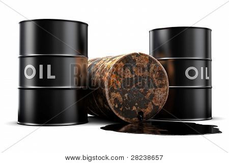 Leaking Oil Barrel