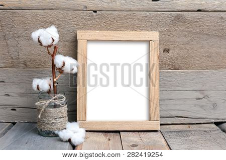 8x10 16x20 Vertical Wood Frame Mockup, Rough Rustic Frame, Wood Background, Picture Frame