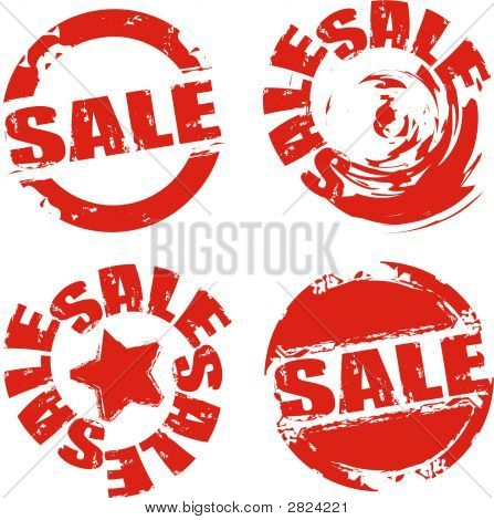 Vector Grunge Sale Labels