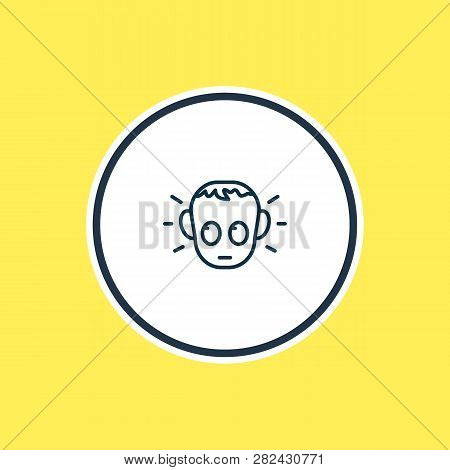 Illustration Of Guilty Icon Line. Beautiful Emoji Element Also Can Be Used As Offence Icon Element.