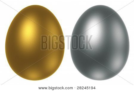 Golden And Silver Egg