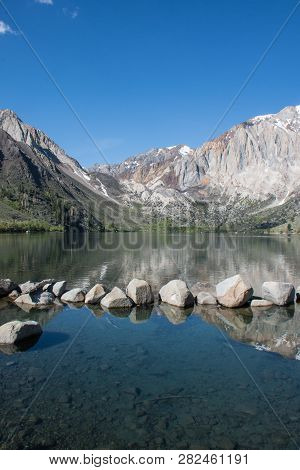 Convict Lake In The Springtime, Located Off Of Us-395, Near Mammoth Lakes California In The Eastern