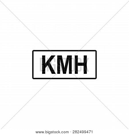 Kilometer, Hours Icon. Signs And Symbols Can Be Used For Web, Logo, Mobile App, Ui, Ux