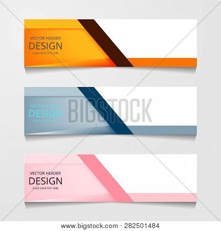 Vector Abstract Banner Design Web Template. Collection Of Web Banner Template. Abstract Geometric We