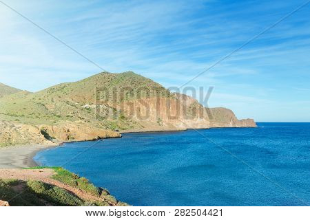 Genoveses Beach Spain Cabo De Gata Natural Park, Playa De Los Genoveses