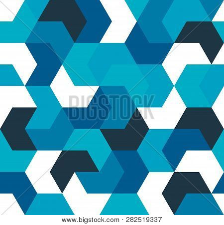 Seamless Pattern. Endless Background Of Geometric Shapes. Arrow Seamless Pattern. Geometric Pattern.