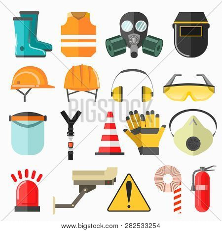 Safety work icons. Safety at work  icons collection.