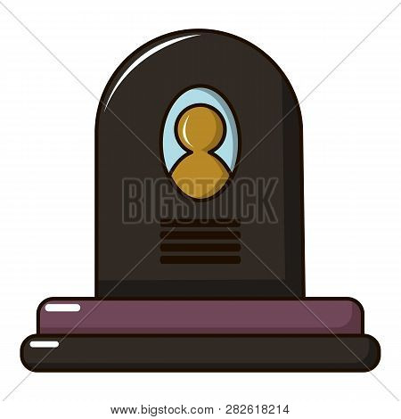 Headstone Icon. Cartoon Illustration Of Headstone Icon For Web Design