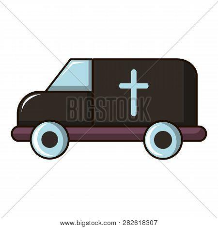 Hearse Icon. Cartoon Illustration Of Hearse Icon For Web Design